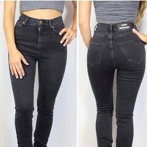 Dr denim old black Zoe skinny jeans high waist 27